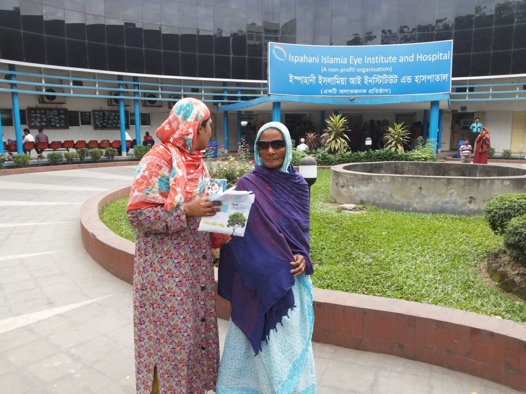 HatchHope pays for the cataract surgery with lens and later eye glasses for Sajirun our 65 year old patient who was unable to see due to cataract.